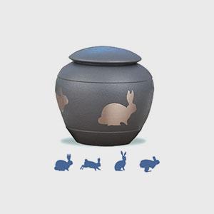 Shale Silhouette Urn (Rabbit)
