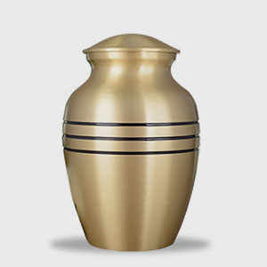 Brushed Finished Urn (Bronze)