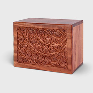 Hand-Carved Rosewood Urn